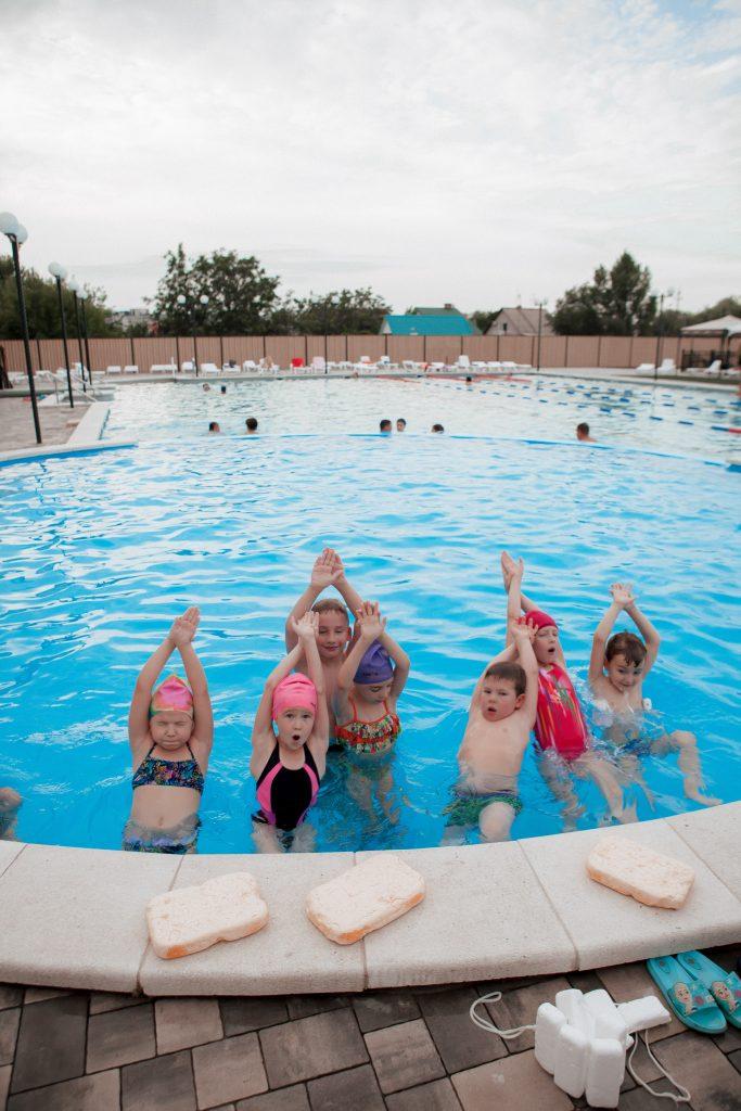 Фото с занятий плаванием в СК Прайд